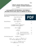 Binomial Normal distribution