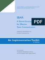 SBAR Toolkit