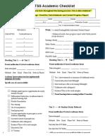 mtss academic checklist
