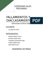 Geologia Estructural - Diaclasas y Fallamientos