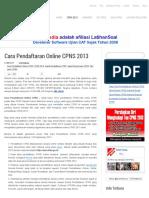 Cara Pendaftaran Online CPNS 2013 _ Penerimaan CPNS 2013 _ CASN Media