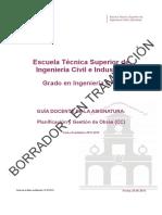 Guia Docente 339384104 - Planificacion y Gestion de Obras (Cc) - Curso 1314