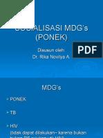 Sosialisasi Mdg's PONEK