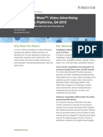 The Forrester Wave Video Advertising DSP 2015 Q4