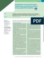 Diagnóstico y Tratamiento de La Hemorragia Digestiva Alta No Varicosa