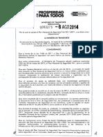RESOLUCION 0002273-2014
