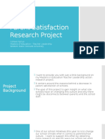 parent satisfaction research project ppt