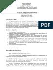 National Greening Program REPORT