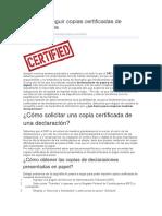 Cómo Conseguir Copias Certificadas de Declaraciones