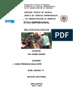 DELITOS ECOLOGICOS