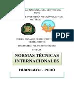 normas tecnicas internacionales