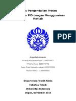 Tugas Pengendalian Proses - Penyetelan PID Dengan Menggunakan Matlab - (Ervandy, Huda, Raden, Rayhan) - Kelas 01