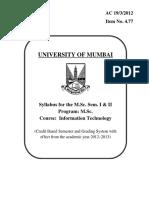 MSC IT part I syllabus