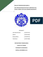 Makalah TRK 1 - Dehidrasi Butanol Menggunakan Katalis Campuran Sial, Tungstated-zirconia, Niobic Acid, Dan Niobium Phosphate - Kelompok 5 Kelas Trk 01