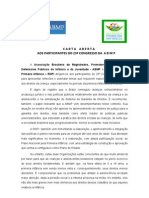 Carta Aberta Da ABMP e Da RNPI - Maio 2010