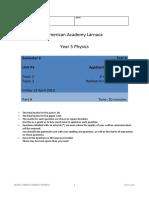 Edexcel GGCSE Physcis 2011 Topics P3.2 and P3.3 test 12_13 with mark scheme