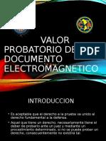 VALOR PROBATORIO DEL DOCUMENTO ELECTROMAGNETICO