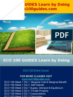 ECO 100 GUIDES Learn by Doing - Eco100guides.com