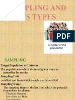 Types sampling methods