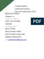 Name Lukesh Kumar Kosale