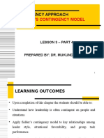 Lesson 3 - Contingency Approach - Fiedler's Appraoch - Part 1