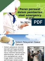 Peran Perawat Dealam Pemberian Obat Emergency