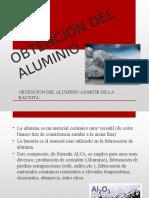 obtencion del aluminio