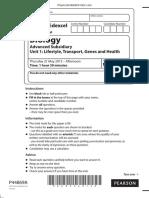 June 2015 (IAL) QP - Unit 1 Edexcel Biology