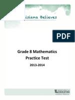 Practice Test Math Grade 8