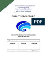 QP RT 03_ITJEN Penetapan Status Pengguna