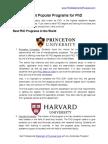 5 Top PhD Programs