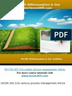 ISCOM 305 professional tutor/iscom305.com