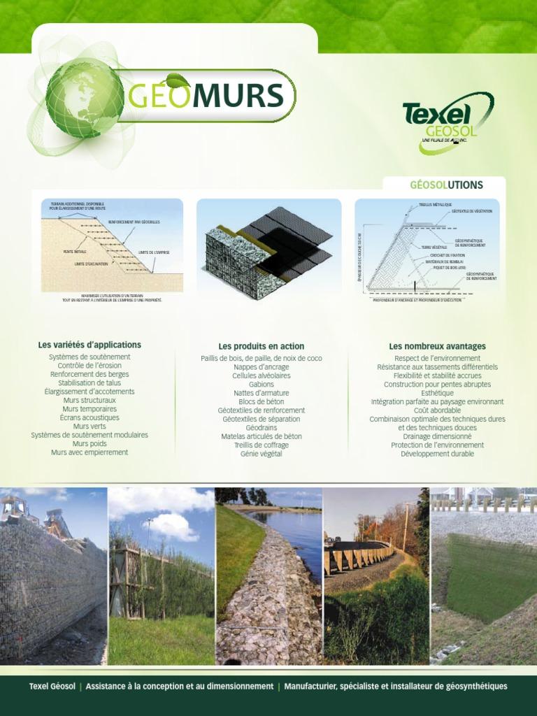Paillis Noix De Coco geo solutions   ingénierie civile   ingénierie