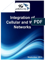Integration of Cellular and WiFi Networks 9.25.13 - 4G Americas