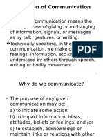 1 Definition of Communication