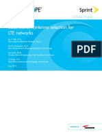 BSA Selection for LTE Networks WP 108976