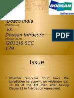 Dozco vs Doosan