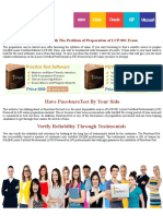 Pass4Sure LCP-001 Practice Test Software