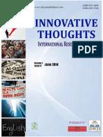 Thematic Studies of Chetan Bhagat's Novels