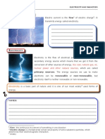 Magnetism and Electricity Lesson Plan