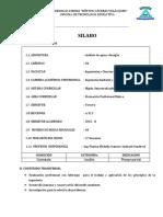Silabo Analisis de Agua y Desague 2015-Ipgas