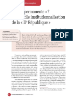 La Diificille Institutionnalisation de l'Italie