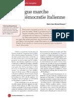 La Longue Marche de La Démocratie Italienne