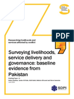 Surveying Livelihoods Service Delivery and Governance - Baseline Evidence From Pakistan