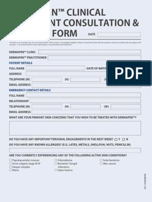 dermapen consent form equdpe1031 | Immunodeficiency