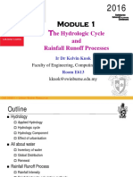 Module 1_Hydraulic Cycle, Rainfall & Runoff Process 2016
