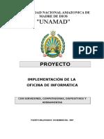 Proyecto Implementacion de la Oficina de Informatica.doc