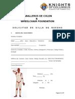 SOLICITUD DE SILLAS DE RUEDAS
