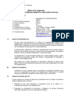 AD0102- I CULTURA Y COMPORTAMIENTO ORGANIZACIONAL