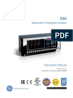 GE G60 Manual
